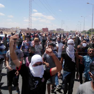تطاوين: مسيرة للمطالبة بالإفراج عن الناطق باسم اعتصام الكامور
