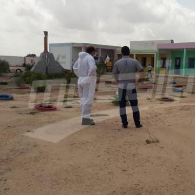 Campagne de désinfection à Jebeniena après la découvertes de plusieurs cas de coronavirus