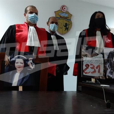 Hommage à la juge Sonia Laaridhi et marche protestataire des magistrats devant le tribunal de première instance de Nabeul