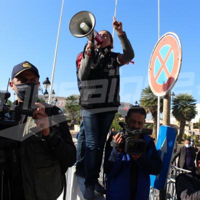 Jour de colère: Les journalistes manifestent à la Kasbah