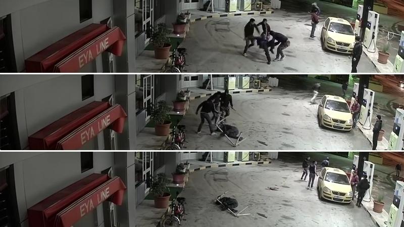 الاعتداء على عامل بمحطة بنزين
