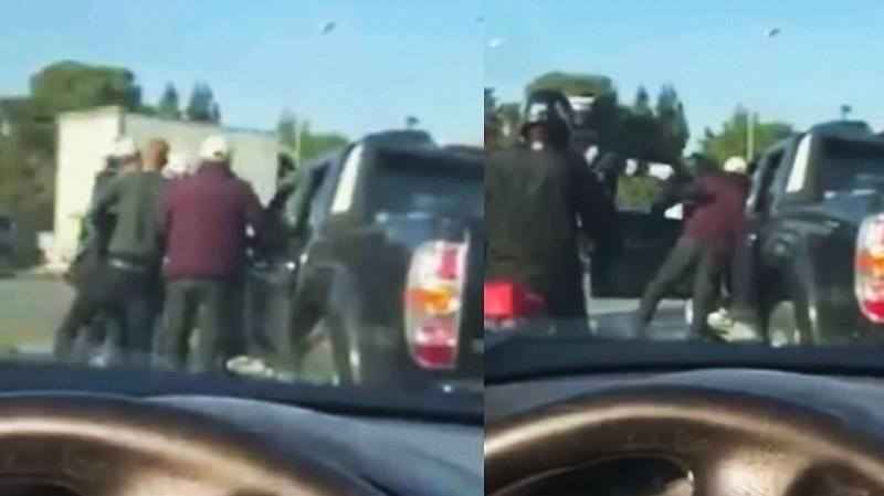 عون مرور يعتدي بالعنف على سائق سيارة  (فيديو)