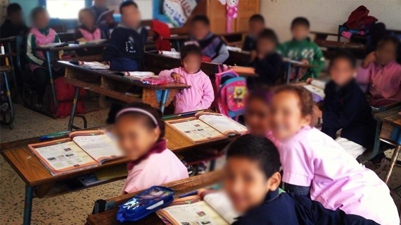 تلاميذ بمدرسة