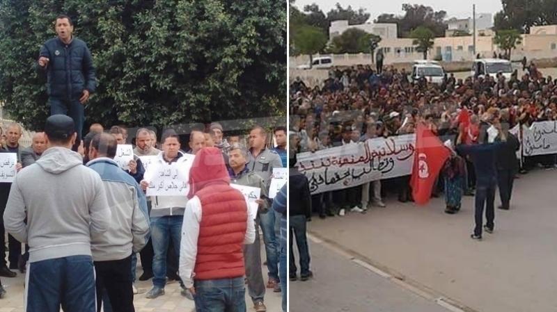 احتجاجات في القيروان