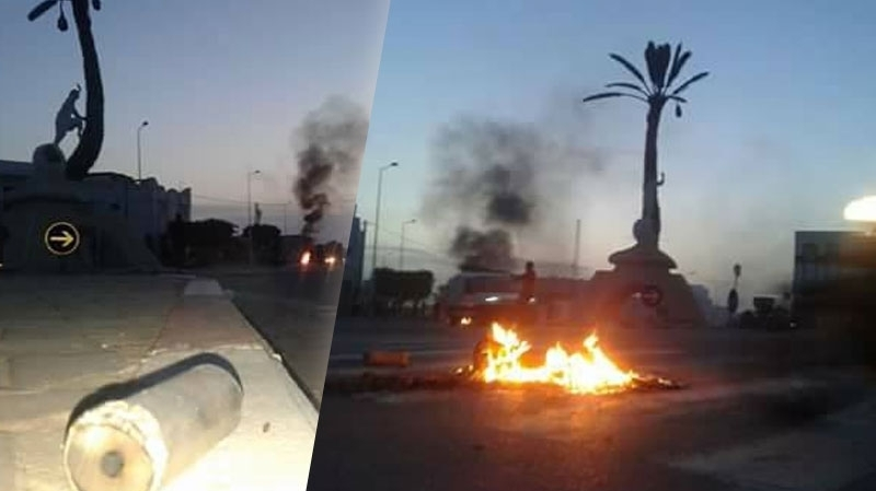 قبلي: محتجون يحرقون سيارات تابعة للوحدات الأمنية