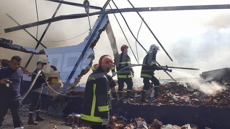 الشاهد يكلف 3 وزراء بالتحقيق في حريق ميناء رادس