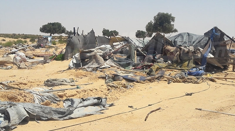 بن قردان : إخلاء مخيم الشّوشة بالقوّة العامة