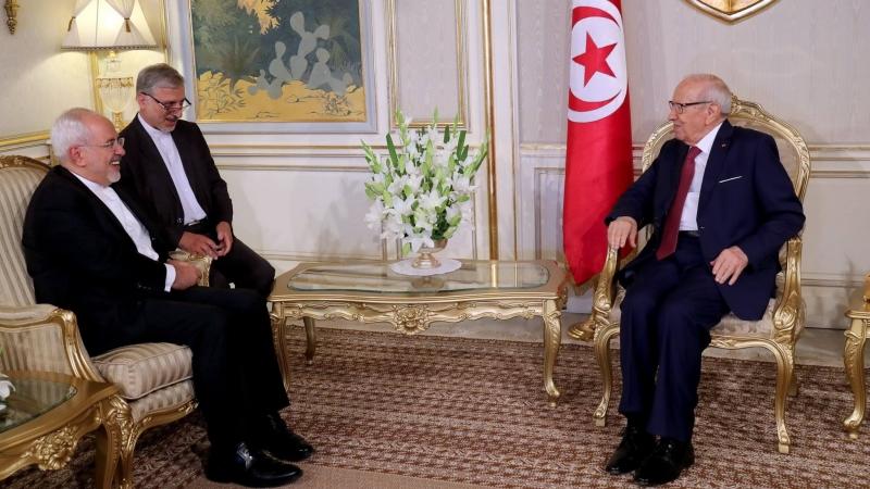 التعاون التونسي الإيراني والأزمة الخليجية في لقاء السبسي بظريف