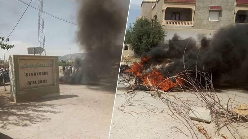 سبيبة: باعة متجولون يقطعون الطريق احتجاجا على تغيير أماكن انتصابهم