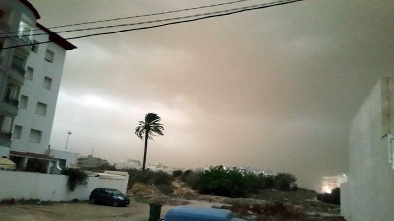 عاصفة في سوسة