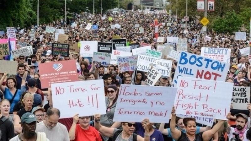 احتجاجات في بوسطن