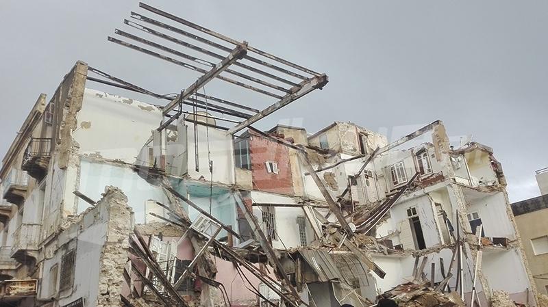 انهيار مبنى بسوسة:إستقرار الحالة الصحية للجرحى والبحث جار عن المفقودين