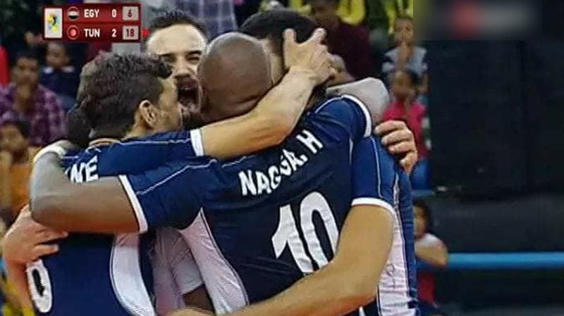 الكرة الطائرة:تونس تفوز على مصر وتحرز اللقب القاري التاسع في تاريخها