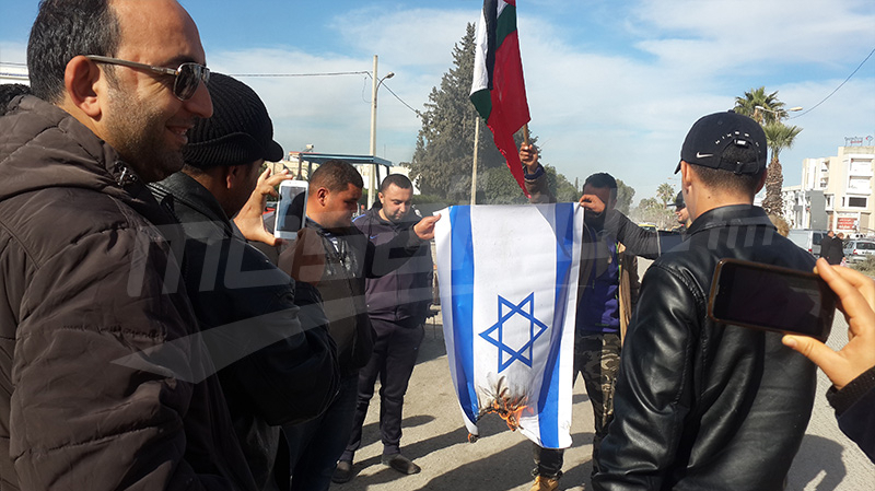 سليانة : حرق علم الكيان الصهيوني رفضا لقرار ترامب
