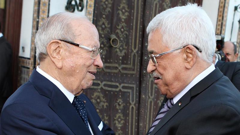 باجي قائد السبسي ومحمود عباس