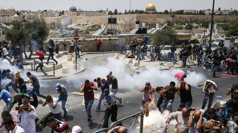إصابة 231 فلسطينيا خلال مواجهات مع جيش الاحتلال