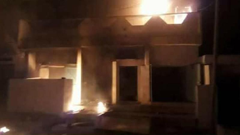 القصرين : حرق مقر منطقة الأمن الوطني بتالة