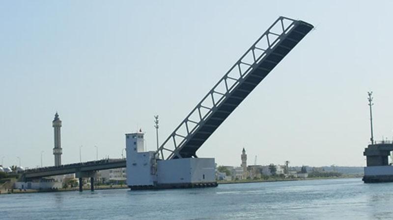 غدا السبت: فتحة صباحية واخرى مسائية استثنائية للجسر المتحرك ببنزرت