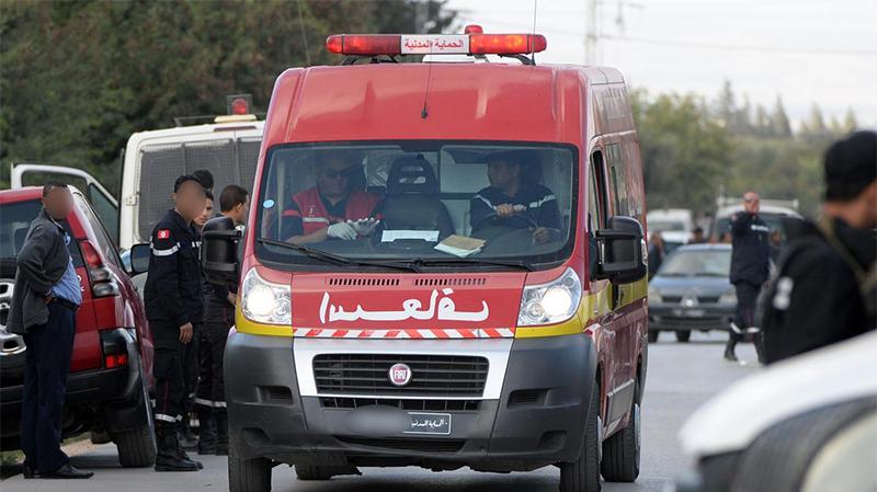 سوسة:حادث تصادم بين حافلة لنقل العملة و سيارة يسفرعن وفاة شخص