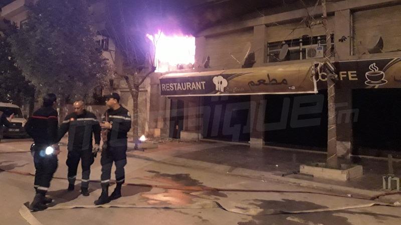 نشوب حريق ببناية بلافيات وسط العاصمة