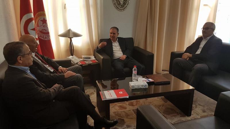 وفد عن حركة تونس أولا يدين 'حملات التشويه' التي طالت اتحاد الشغل