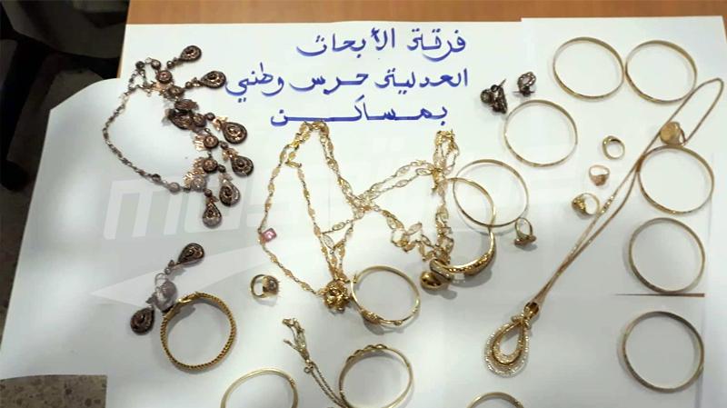 سوسة:القبض على شخص سرق مصوغا بقيمة 40 ألف دينار