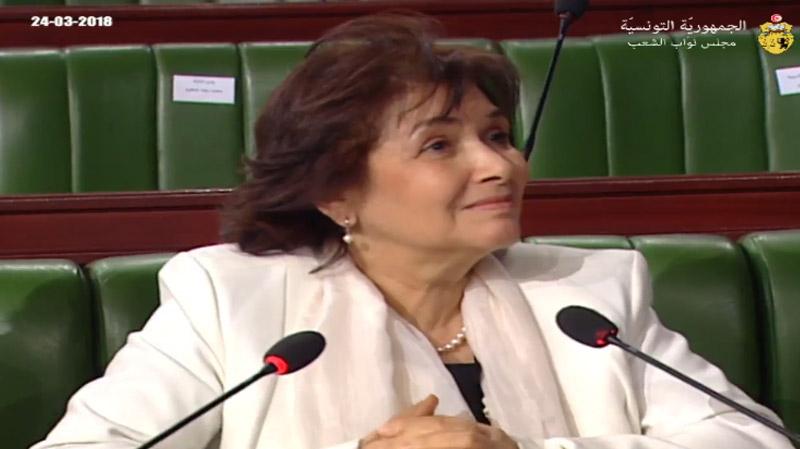 سهام بن سدرين تنسحب من الجلسة العامة