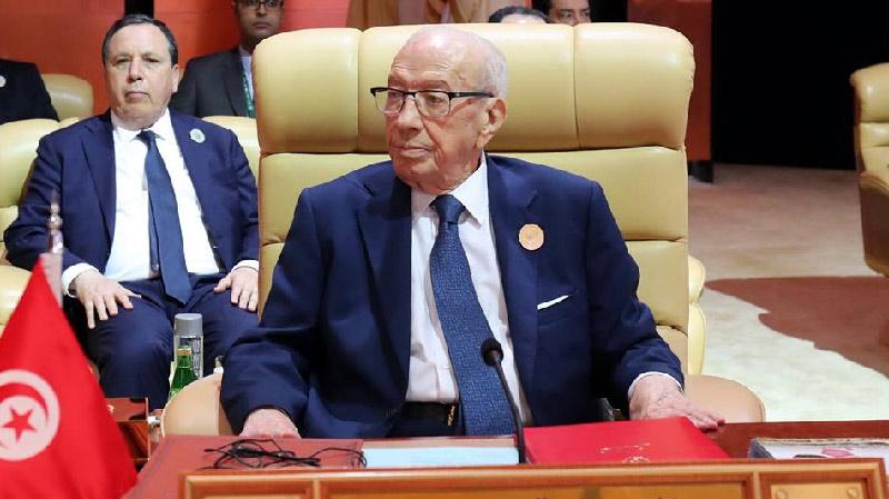 السبسي في القمة العربية: نرفض استعمال الأسلحة المحضورة دوليا من أي جهة