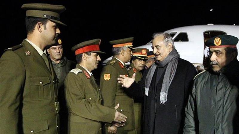 خليفة حفتر يصل بنغازي