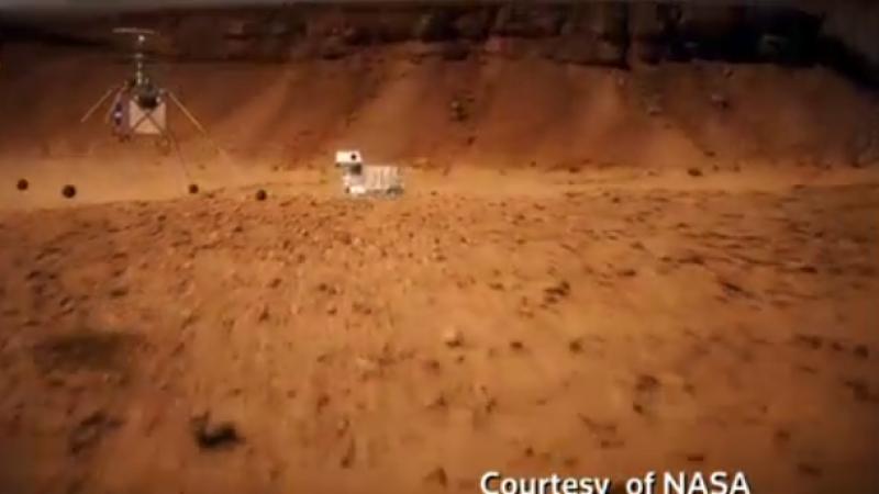 طائرة مروحية تحلّق فوق المريخ !