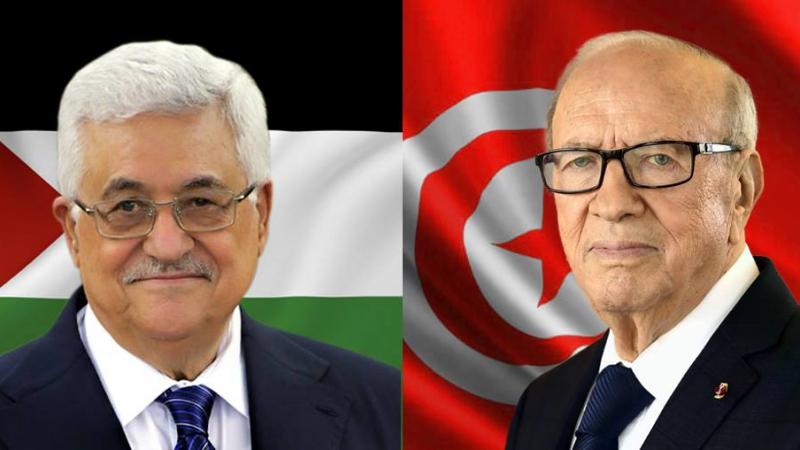رئيس الجمهورية يجري مكالمة هاتفية مع الرئيس الفلسطيني