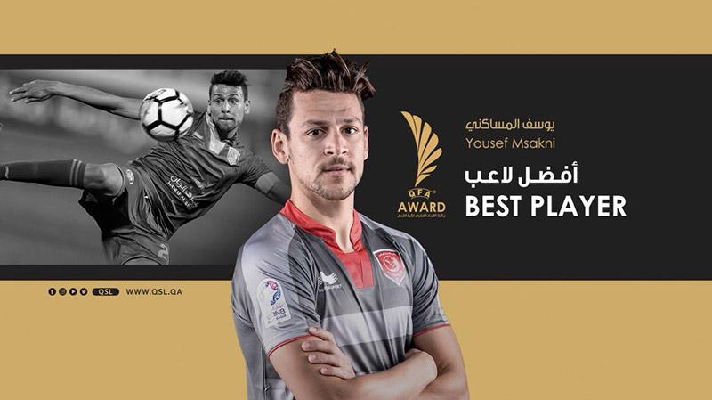 المساكني أفضل لاعب في الدوري القطري