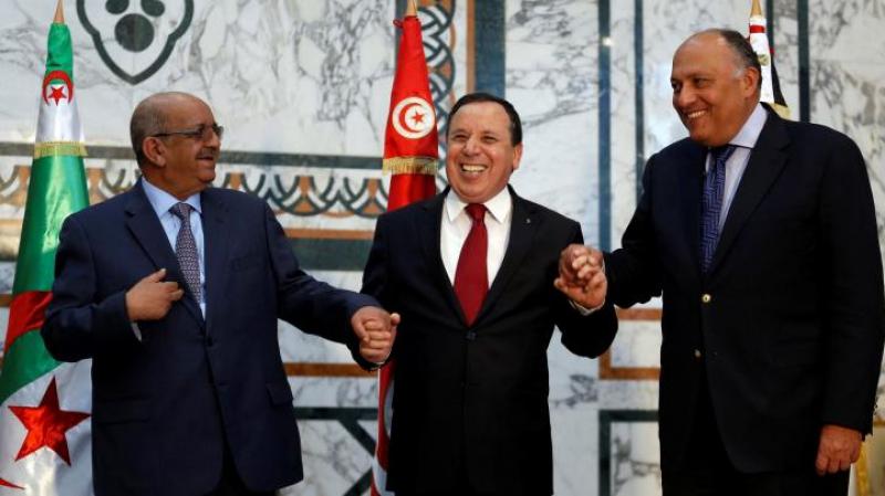 مصر تؤكد تطابق موقفها مع الجزائر وتونس حول ليبيا