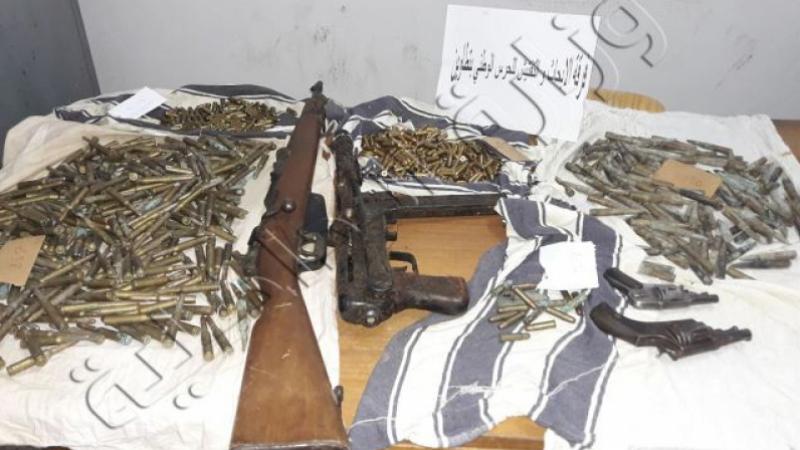 تفاصيل العثور على مخبأ أسلحة أرضي تحت منزل في غمراسن