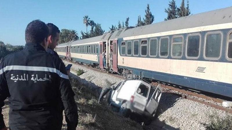 سوسة: وفاة شخص في اصطدام قطار بسيارة خفيفة