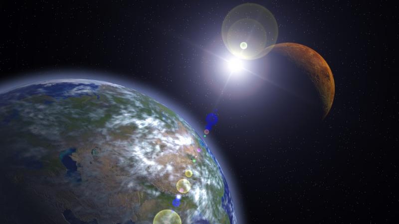 الأرض المريخ