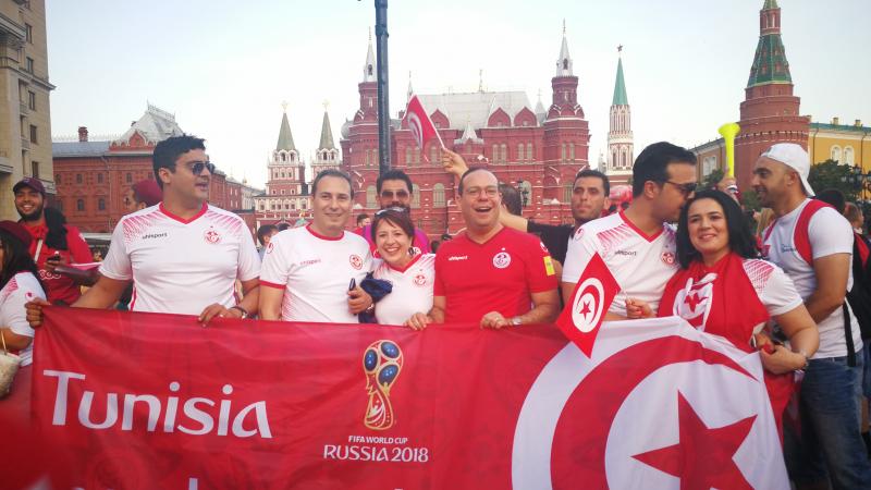 بن غربية في موسكو لتشجيع المنتخب