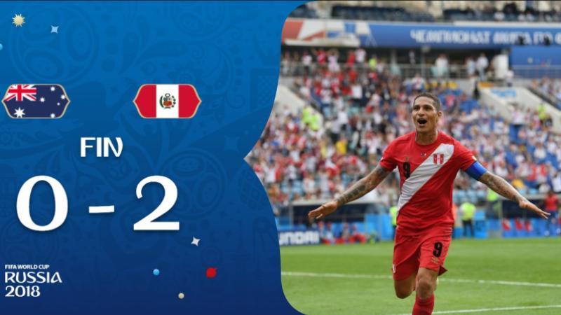 مونديال 2018 : منتخب البيرو يفوز على نظيره الأسترالي