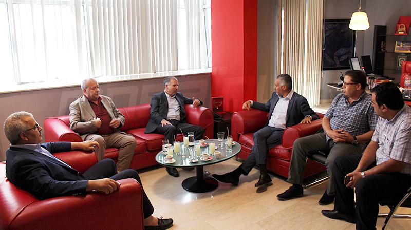 أمين عام الاتّحاد العام التونسي للشغل في زيارة مجاملة لموزاييك