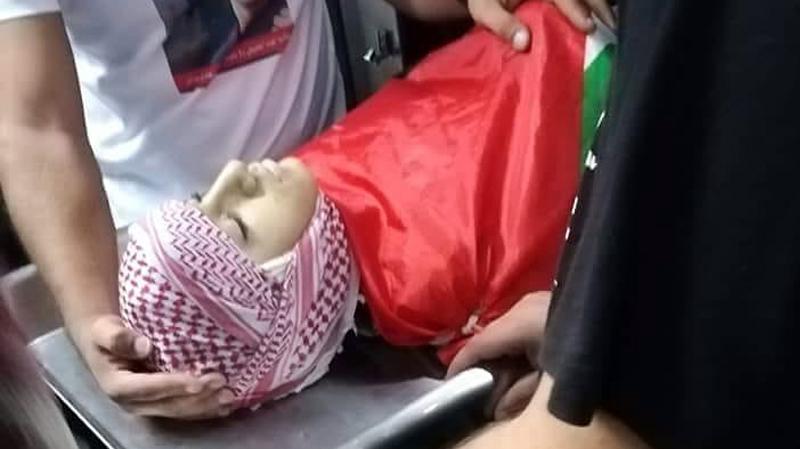استشهادطفلفلسطيني برصاص جيشالإحتلال الإسرائيلي