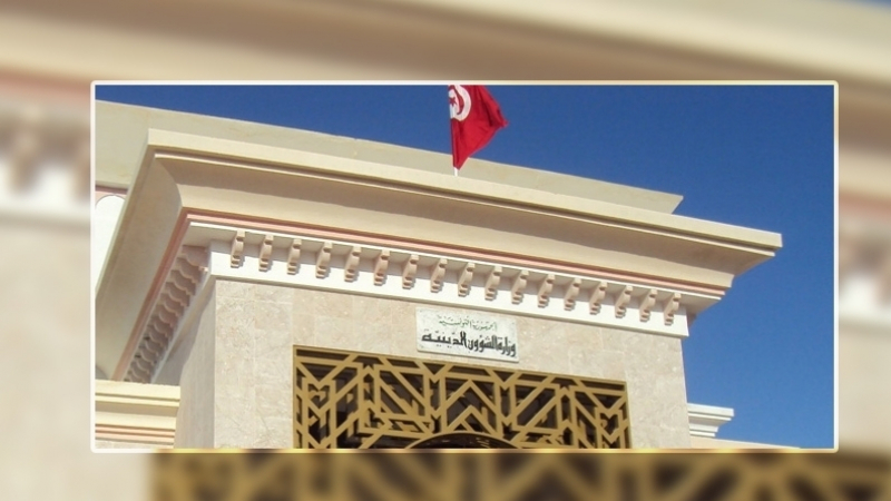 وزير الشّؤون الدينيّة يتحادث مع رئيس جمعيّة رعاية ضيوف الرّحمان