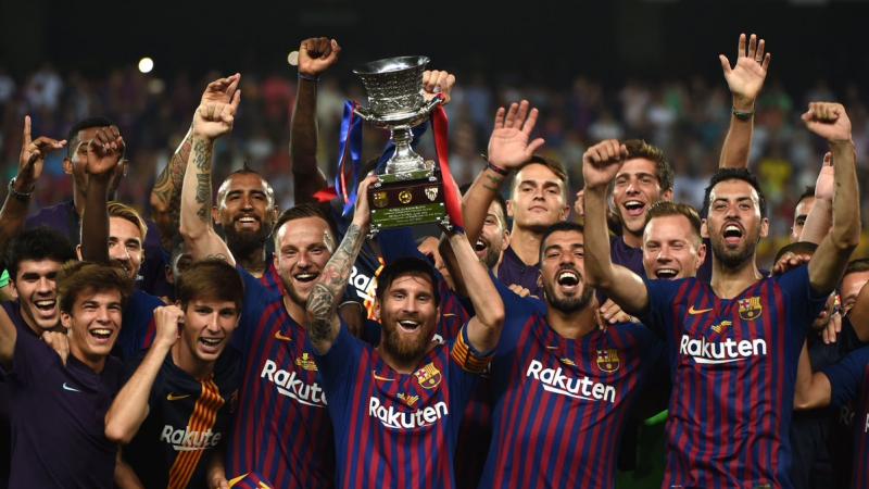 برشلونة يفوز بكأس السوبر