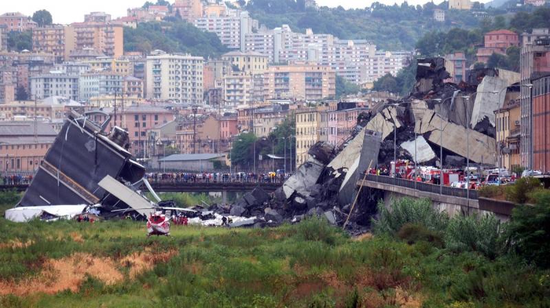 إيطاليا : ارتفاع عدد ضحايا كارثة جنوة إلى 38 شخصا
