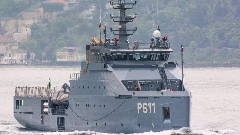 وصول الخافرة أعالي البحار 'حانون 'إلى ميناء بنزرت العسكري