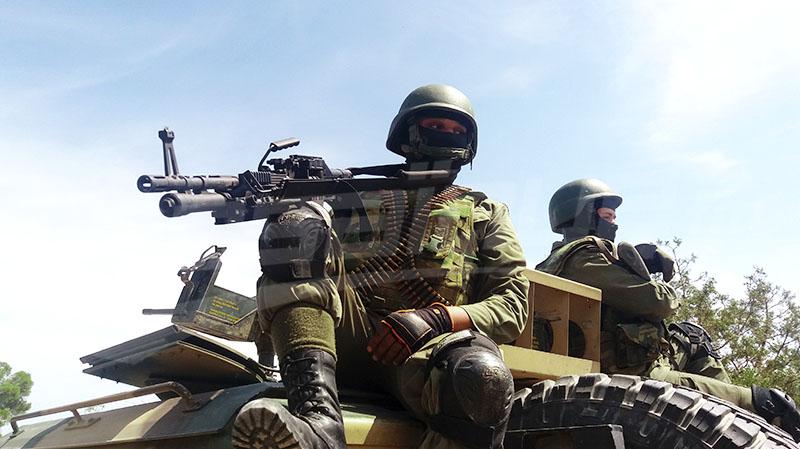 الجيش الوطني يجدد قصف مواقع تحصن لإرهابيين بمرتفعات القصرين