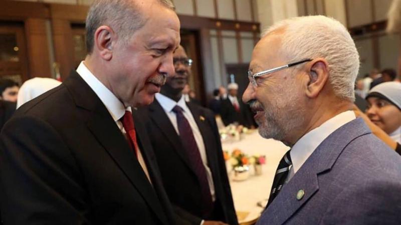 الغنوشي في افتتاح المؤتمر السادس لحزب العدالة والتنمية في تركيا
