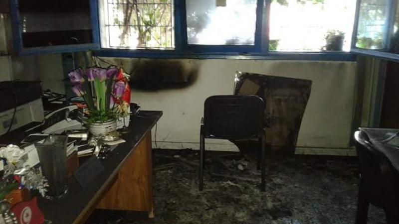 المرناقية: مجهولون يضرمون النار في مكتب مديرة مدرسة اعدادية