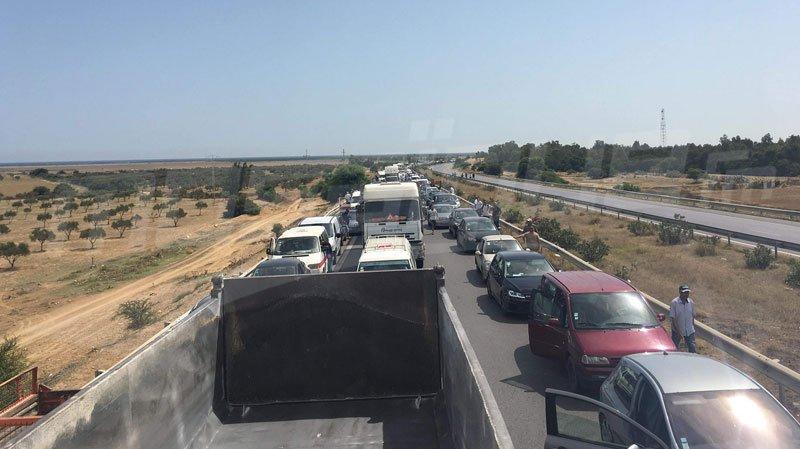 بعد غلقه لساعات من طرف محتجّين:إعادة فتح الطريق السريع تونس سوسة
