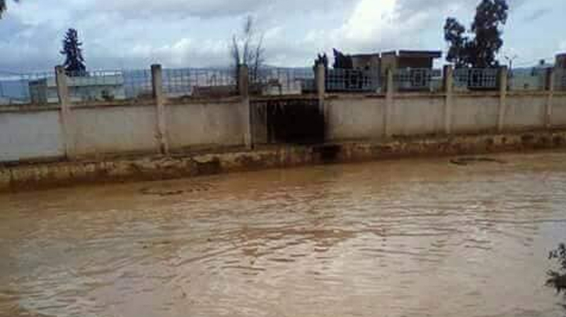 غار الدماء:المياه تغمر أحياء قريبة من وادي بليباس
