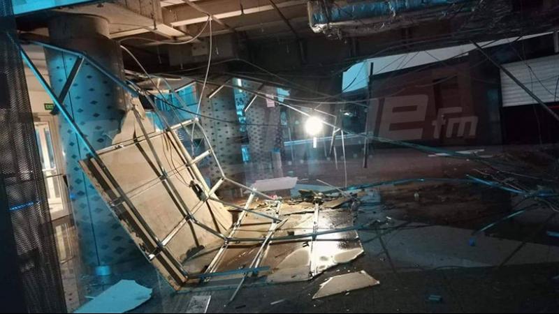 إنهيار عدة أجزاء من سقف مطار النفيضة بسبب الأمطار